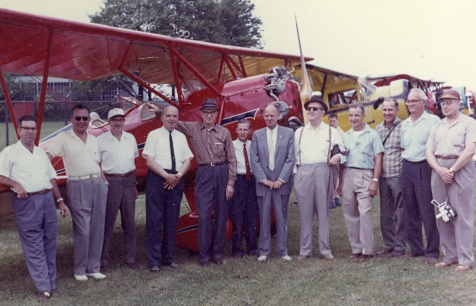 Members of the NWC at an early Reunion Fly In.